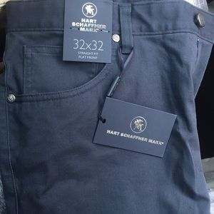 HART SCHAFFNER MARX BLUE GREY PANTS